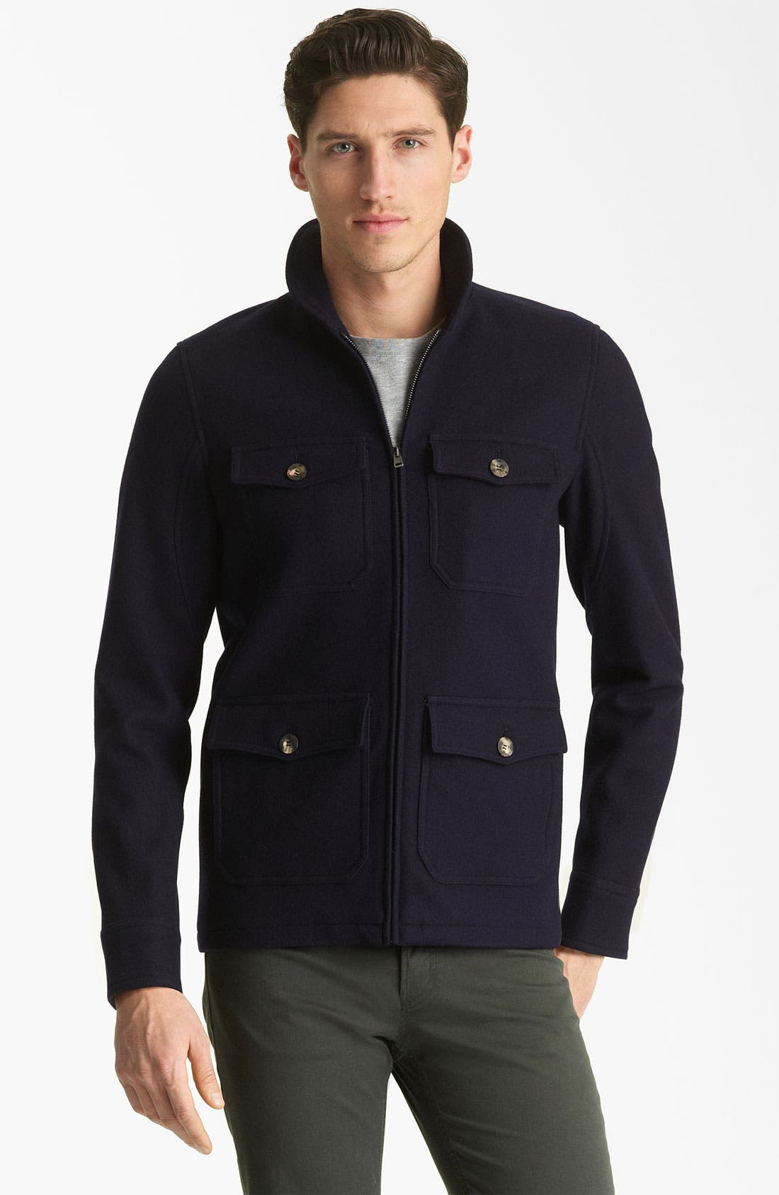 Alternate Image 1 Selected - A.P.C. Round Neck Jacket