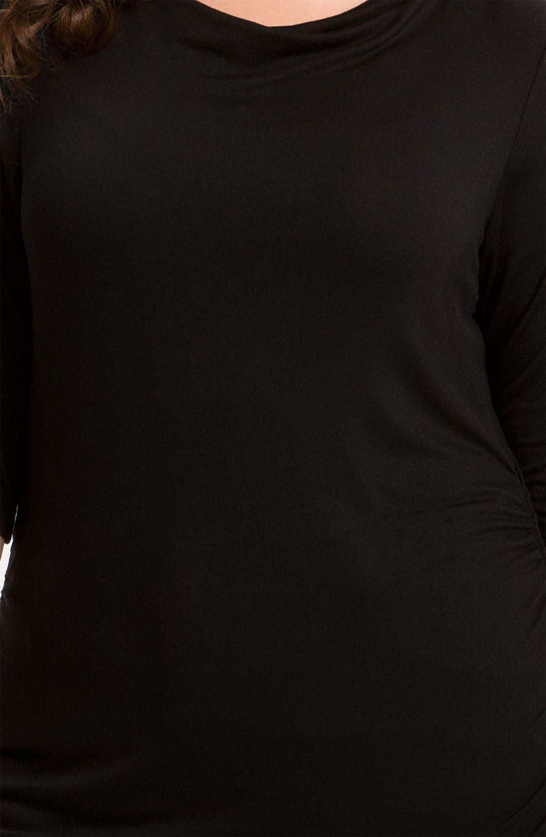 Alternate Image 3  - Sejour Shirred Tee (Plus Size)