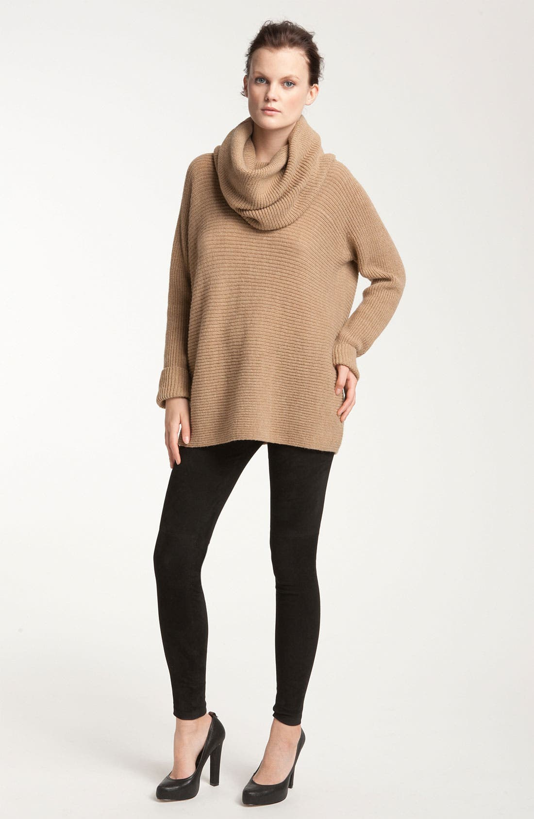 Alternate Image 1 Selected - Vince Ribbed Cowl Neck Sweater