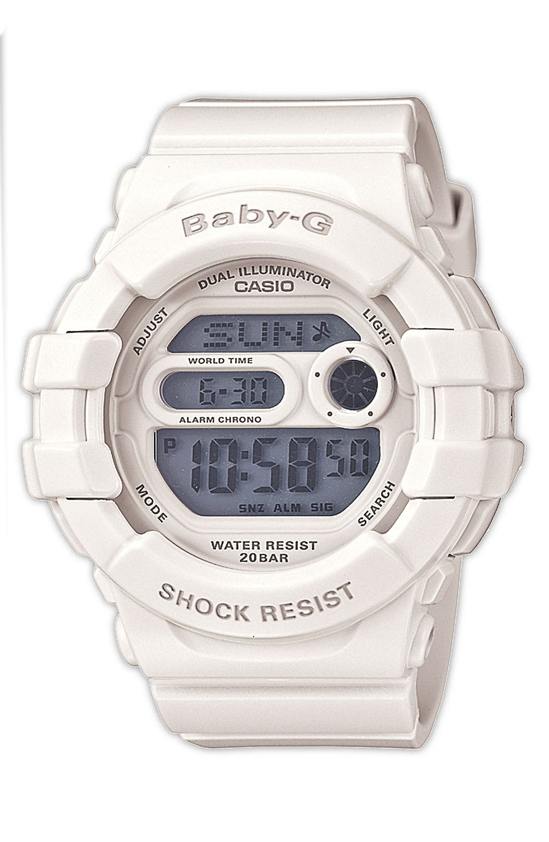 Alternate Image 1 Selected - Baby-G 'Dual Illuminator' Digital Watch, 42mm