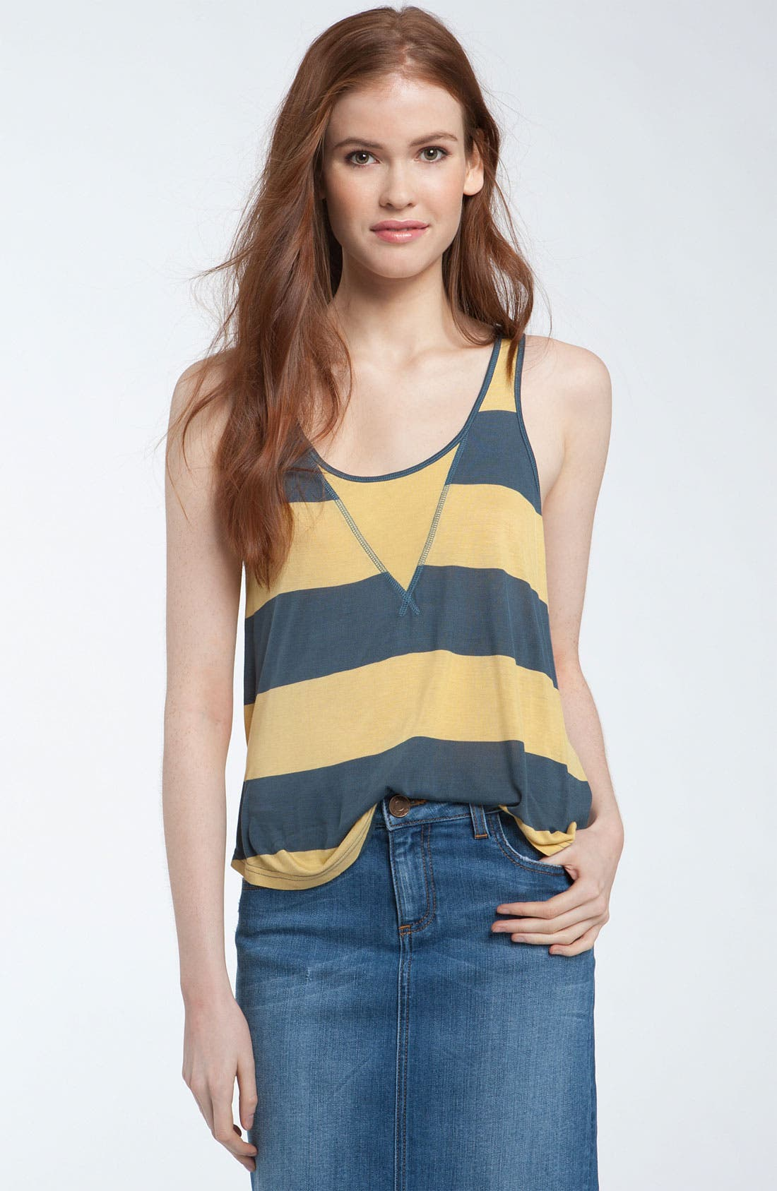 Alternate Image 1 Selected - Kensie 'Bold' Stripe Tank