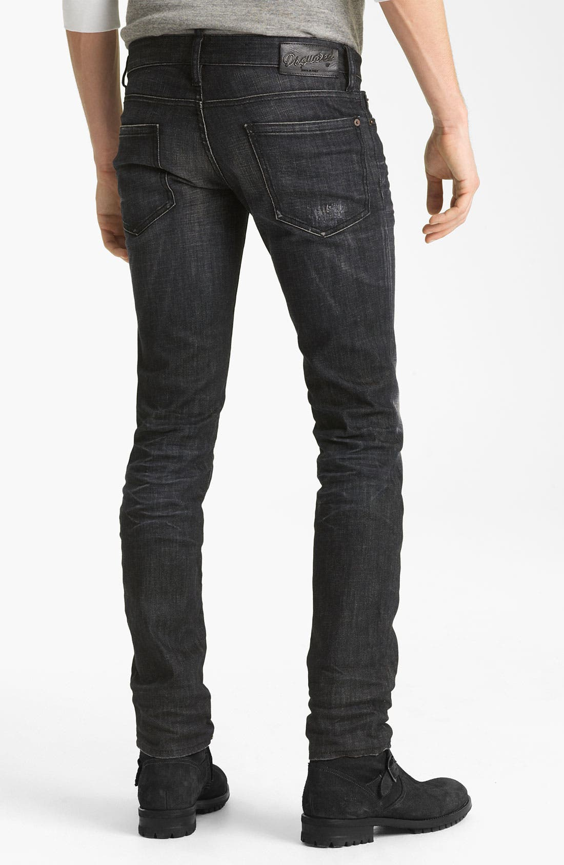 Alternate Image 1 Selected - Dsquared2 Slim Fit Jeans (Black Night)