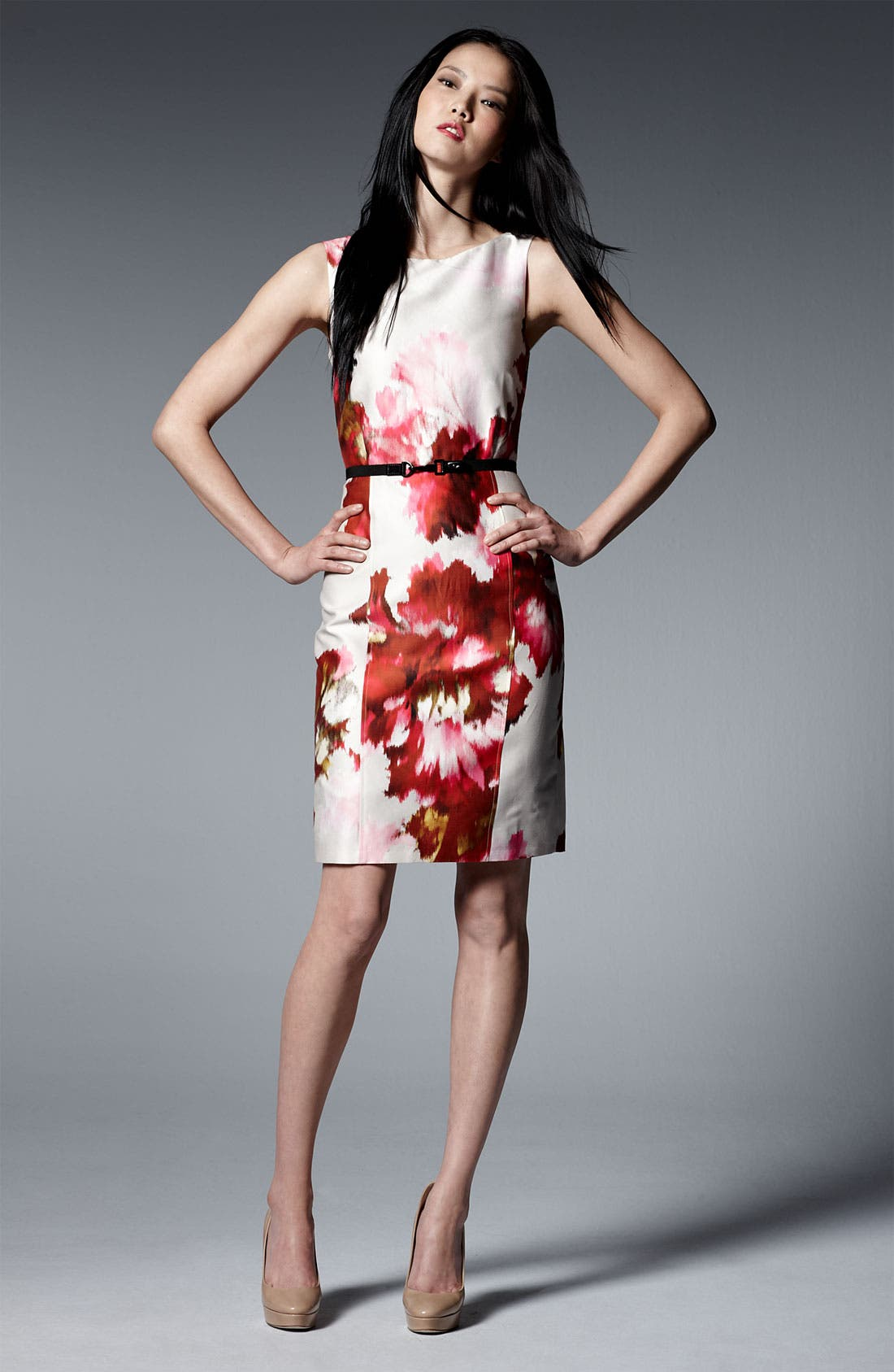 Alternate Image 4  - Max Mara 'Dimitri' Print Silk & Cotton Dress