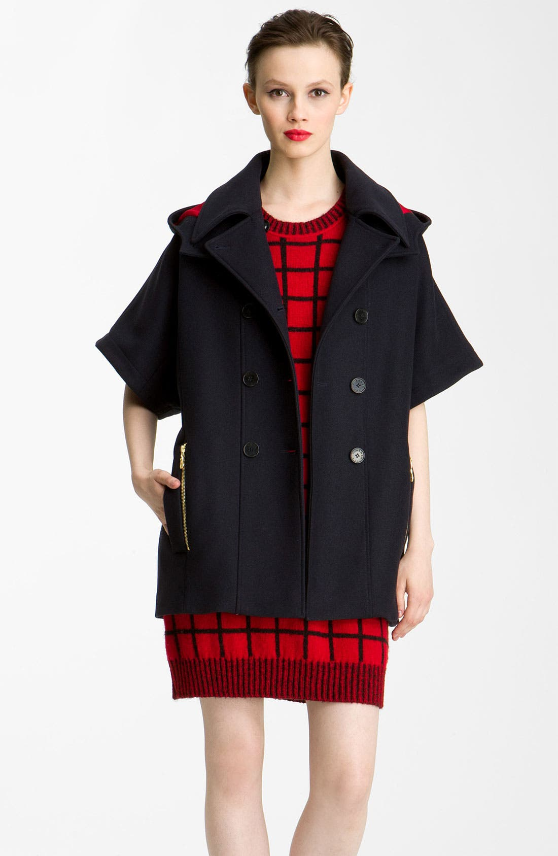 Alternate Image 3  - KENZO 3-in-1 Double Breasted Wool Jacket