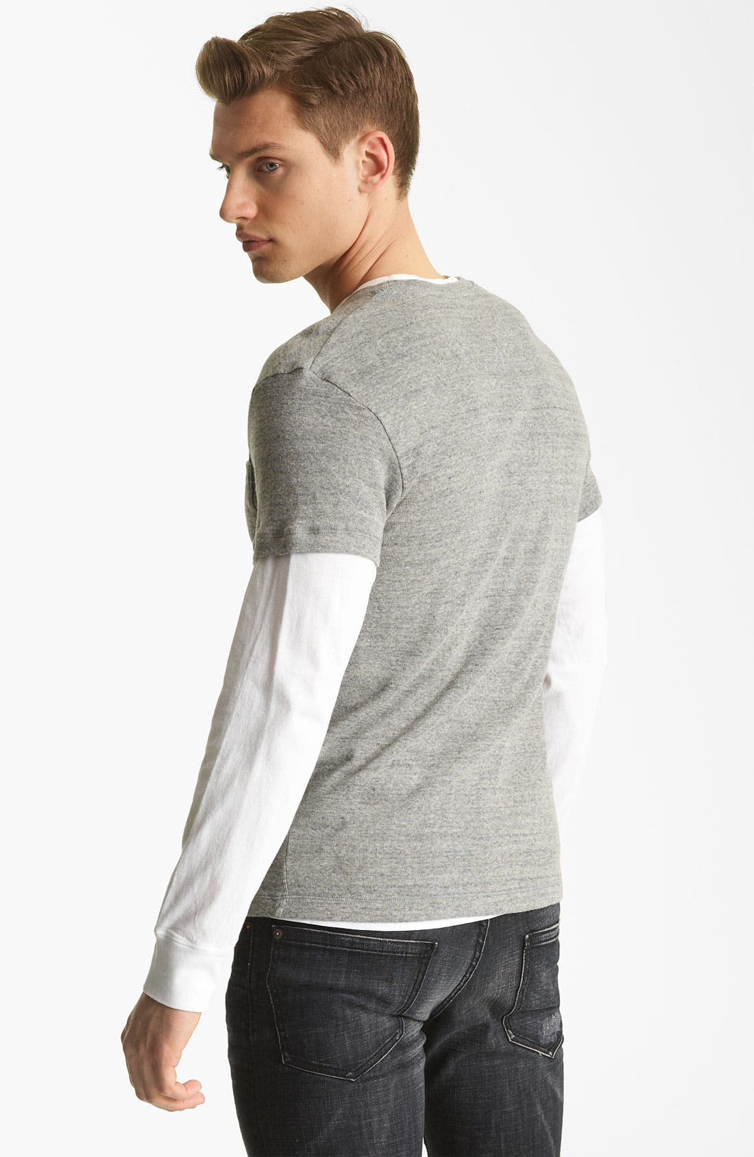 Alternate Image 2  - Dsquared2 Rib Knit Long Sleeve Two-Piece T-Shirt