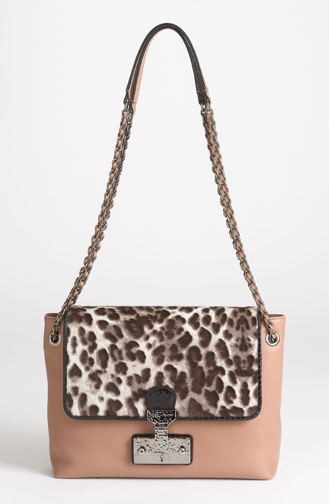 Alternate Image 1 Selected - MARC JACOBS 'Safari - Large Single' Leather & Calf Hair Shoulder Bag