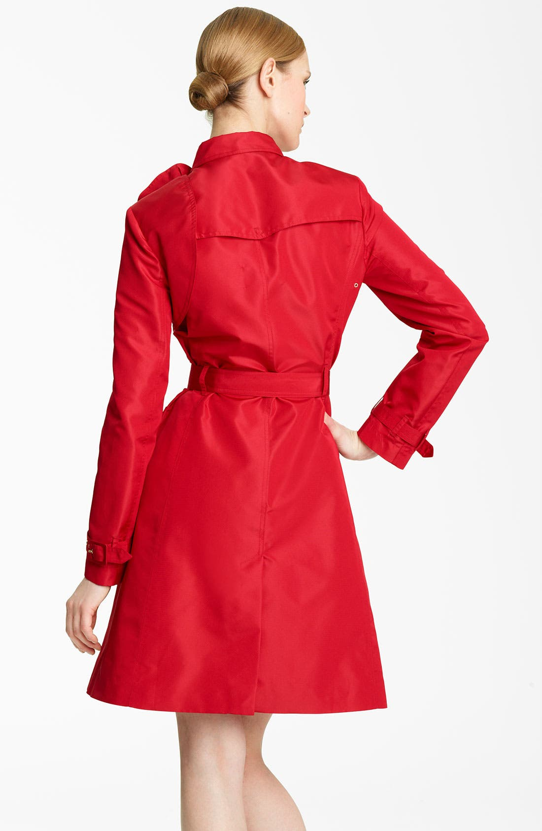 Alternate Image 2  - Valentino Rosette Detail Belted Faille Trench
