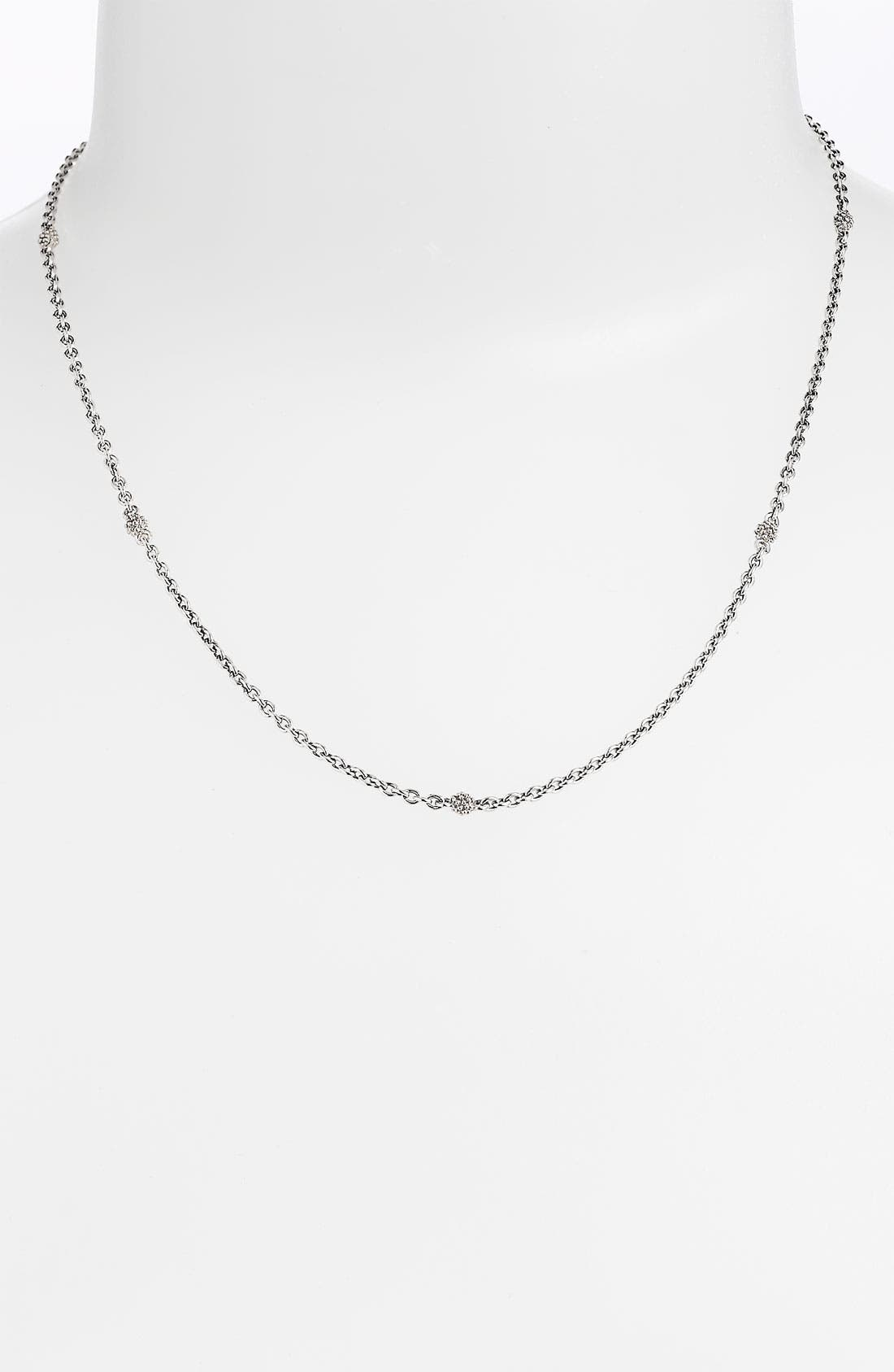 Caviar Station Chain Necklace,                             Main thumbnail 1, color,                             Sterling Silver