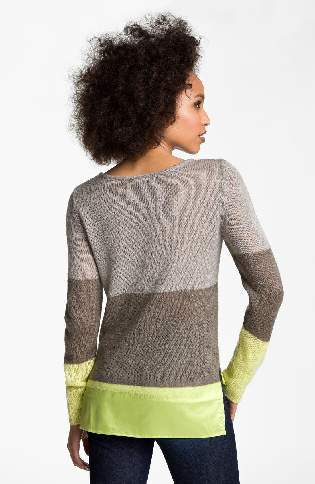 Alternate Image 2  - Hinge® Satin Needle Punch Sweater