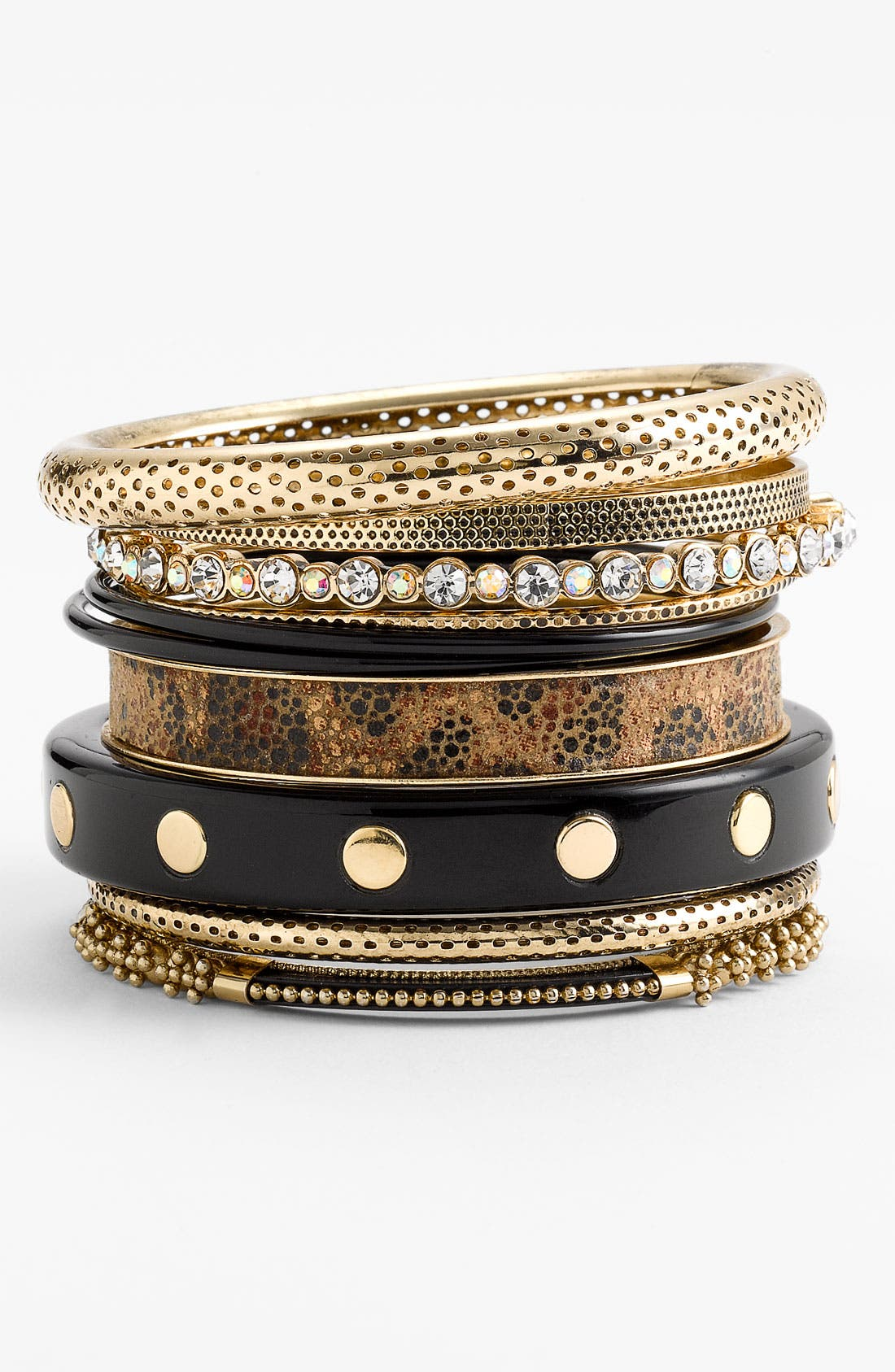 Alternate Image 1 Selected - Natasha Couture 'Leopard' Bangles (Set of 10)