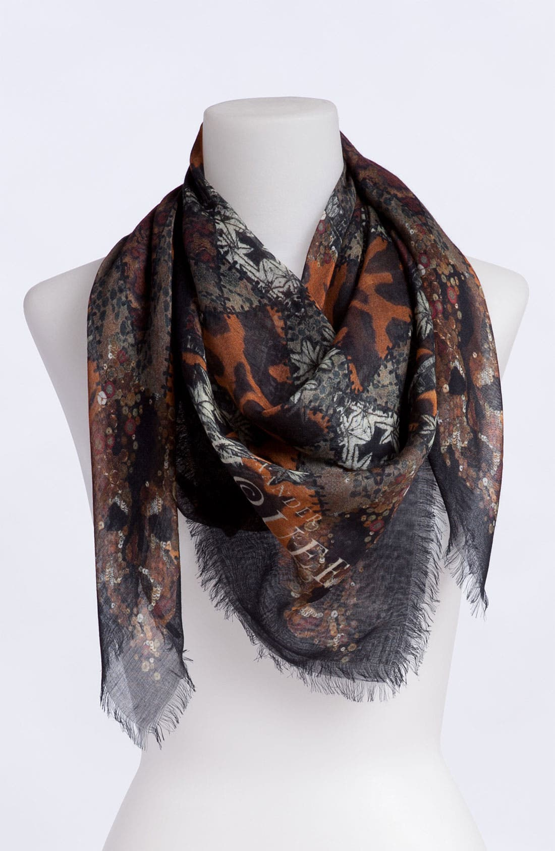 Alternate Image 1 Selected - Alexander McQueen 'God Save McQueen' Patchwork Pashmina