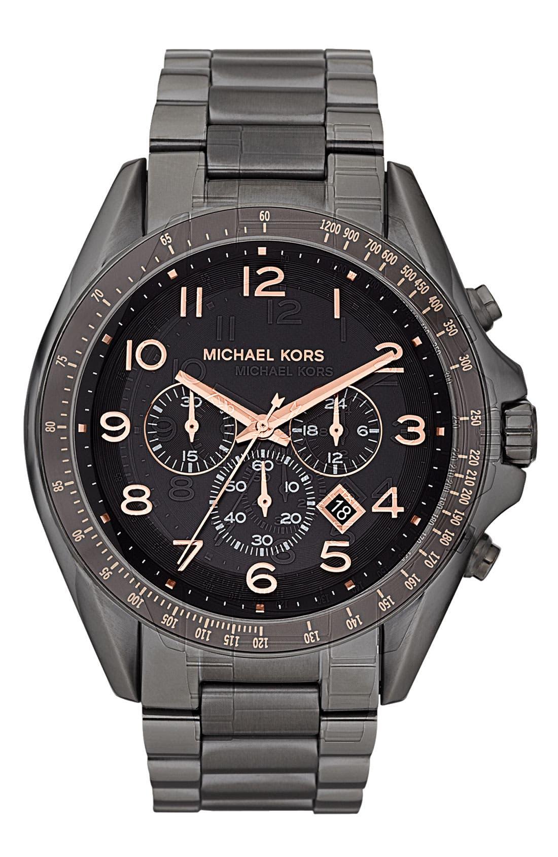 Alternate Image 1 Selected - Michael Kors 'Bradshaw' Chronograph Bracelet Watch, 48mm