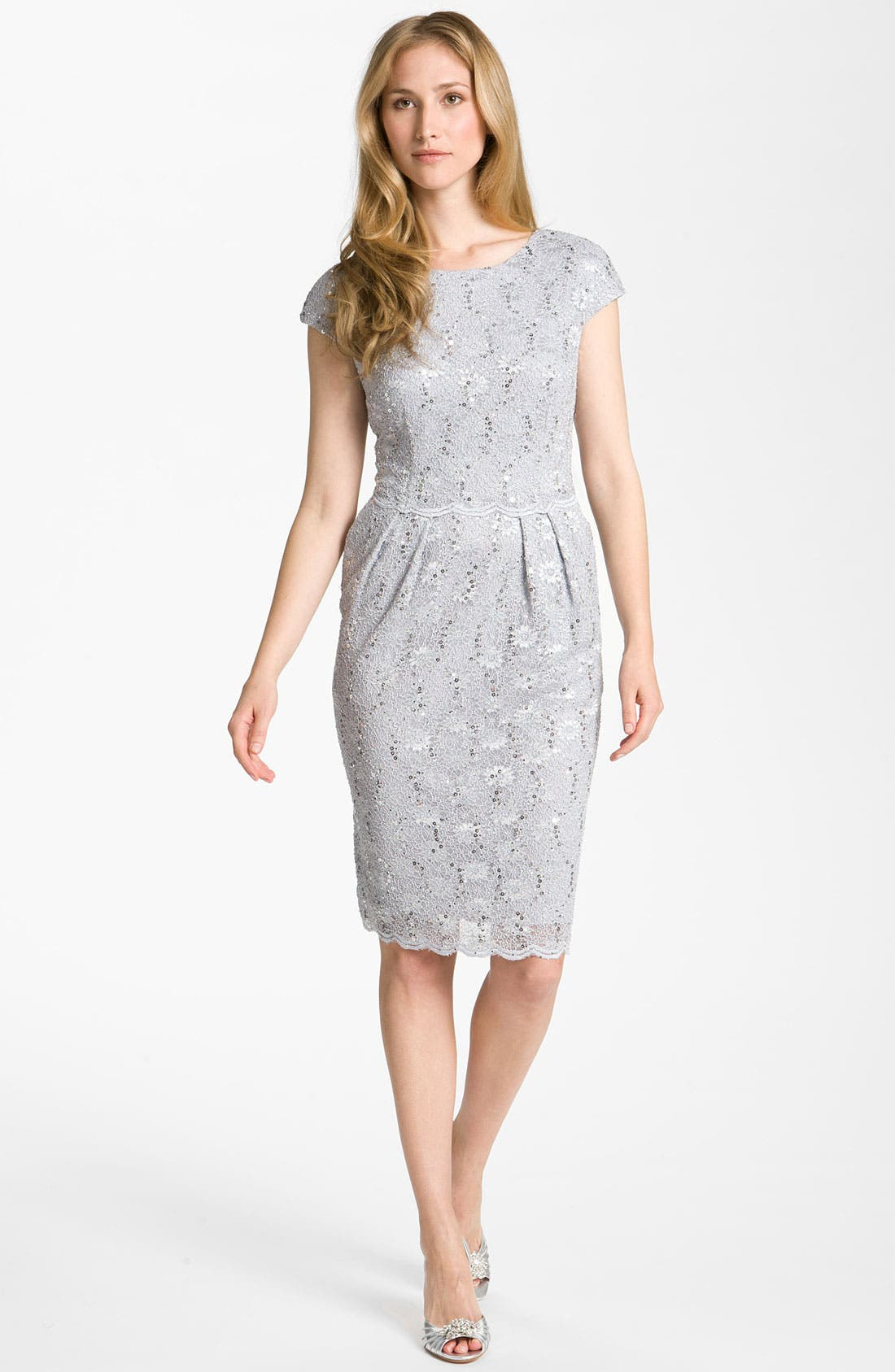Main Image - Alex Evenings Sequin Lace Overlay Sheath Dress