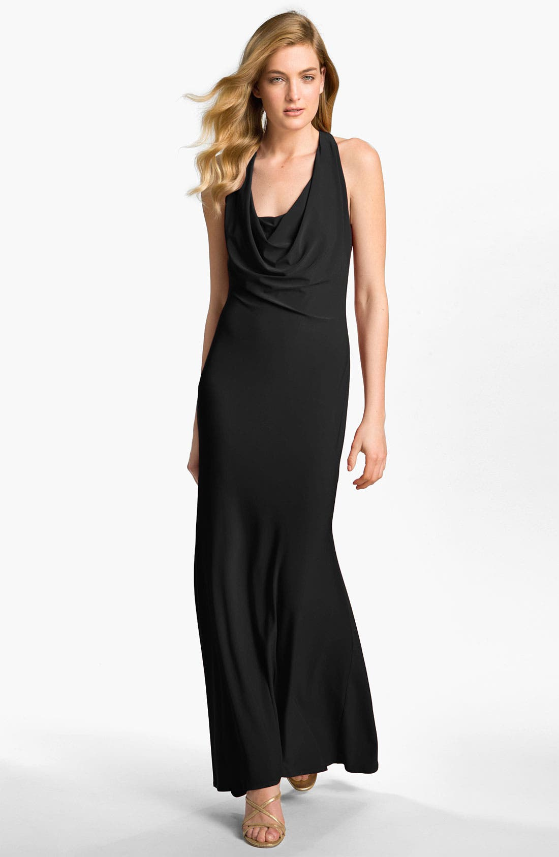 Alternate Image 1 Selected - A.B.S. by Allen Schwartz Cowl Neck Jersey Gown