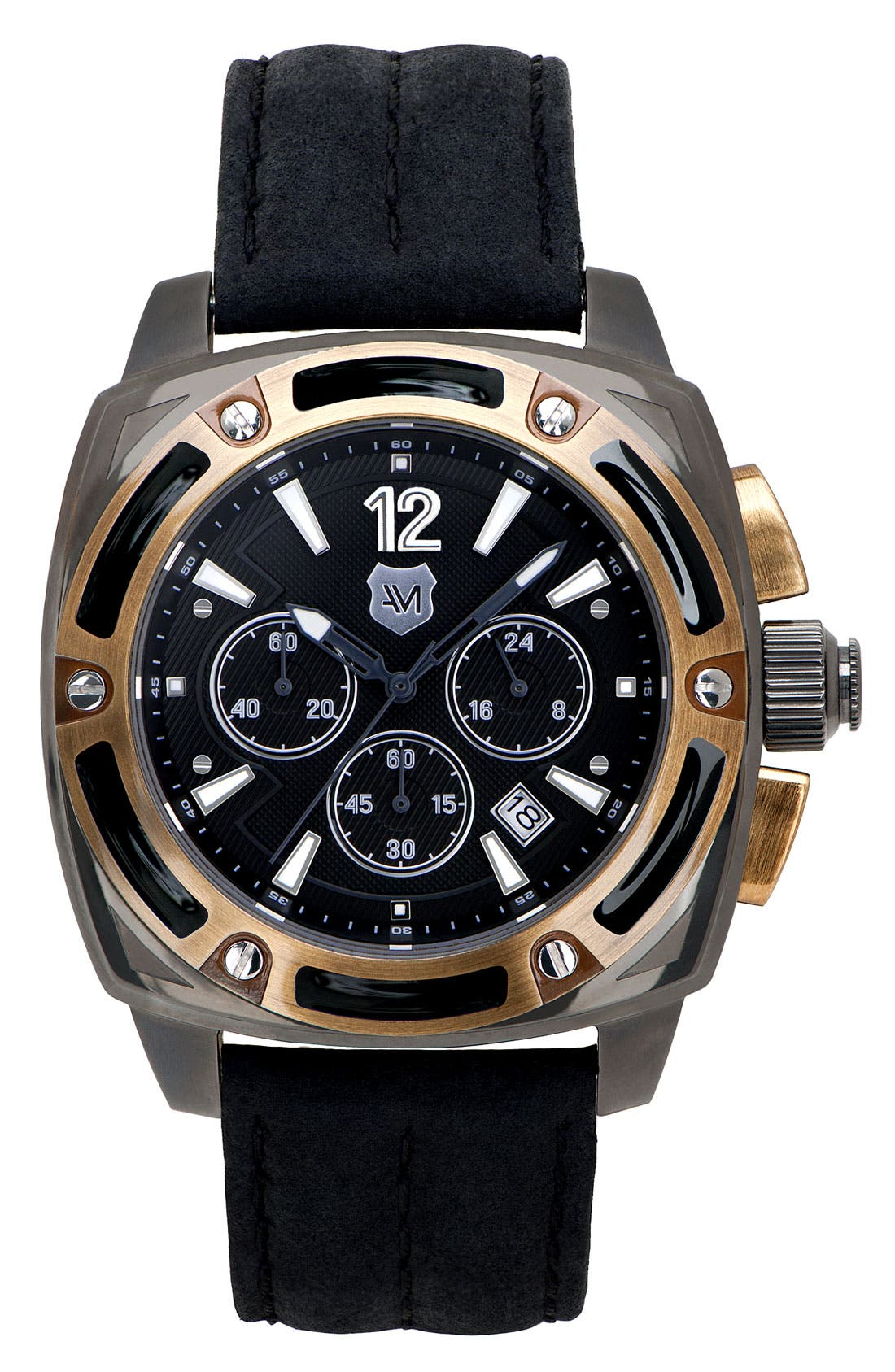Alternate Image 1 Selected - Andrew Marc Watches 'G-III Bomber' Chronograph Watch, 46mm