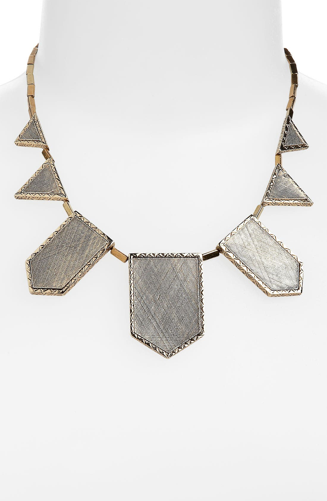 Alternate Image 1 Selected - House of Harlow 1960 Two Tone Engraved Necklace