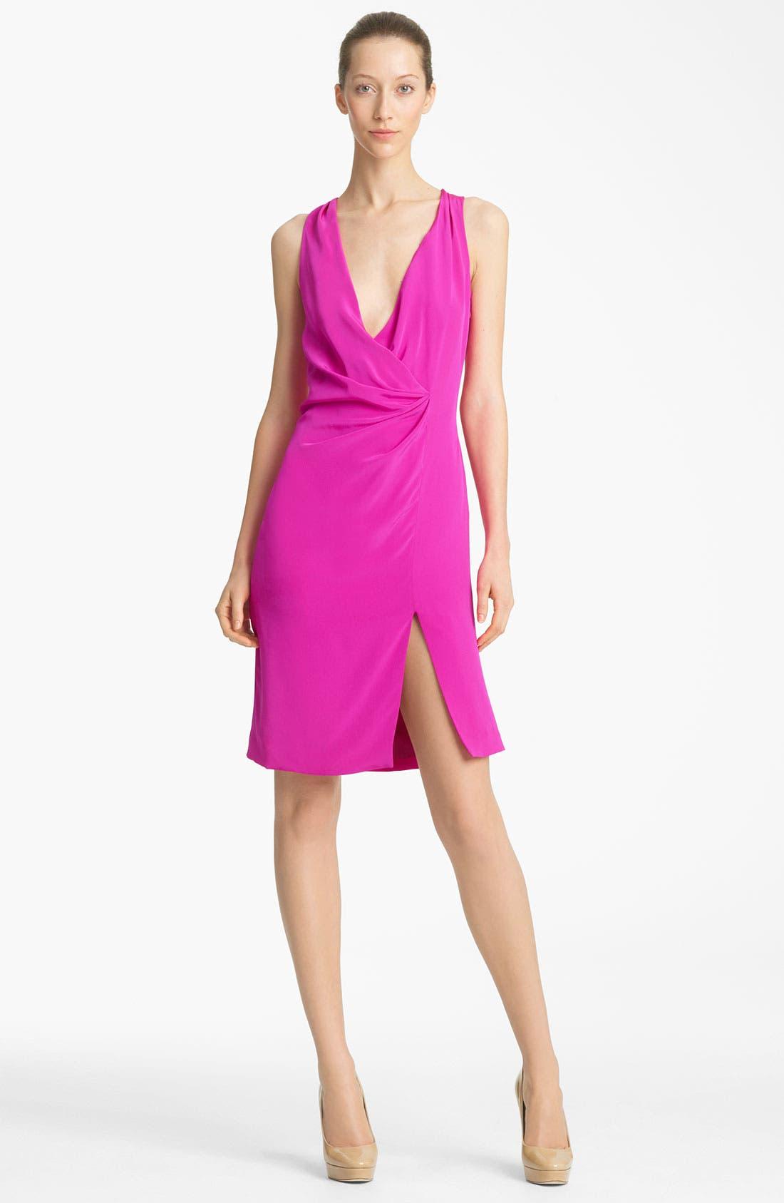 Main Image - Thakoon Faux Wrap Silk Dress