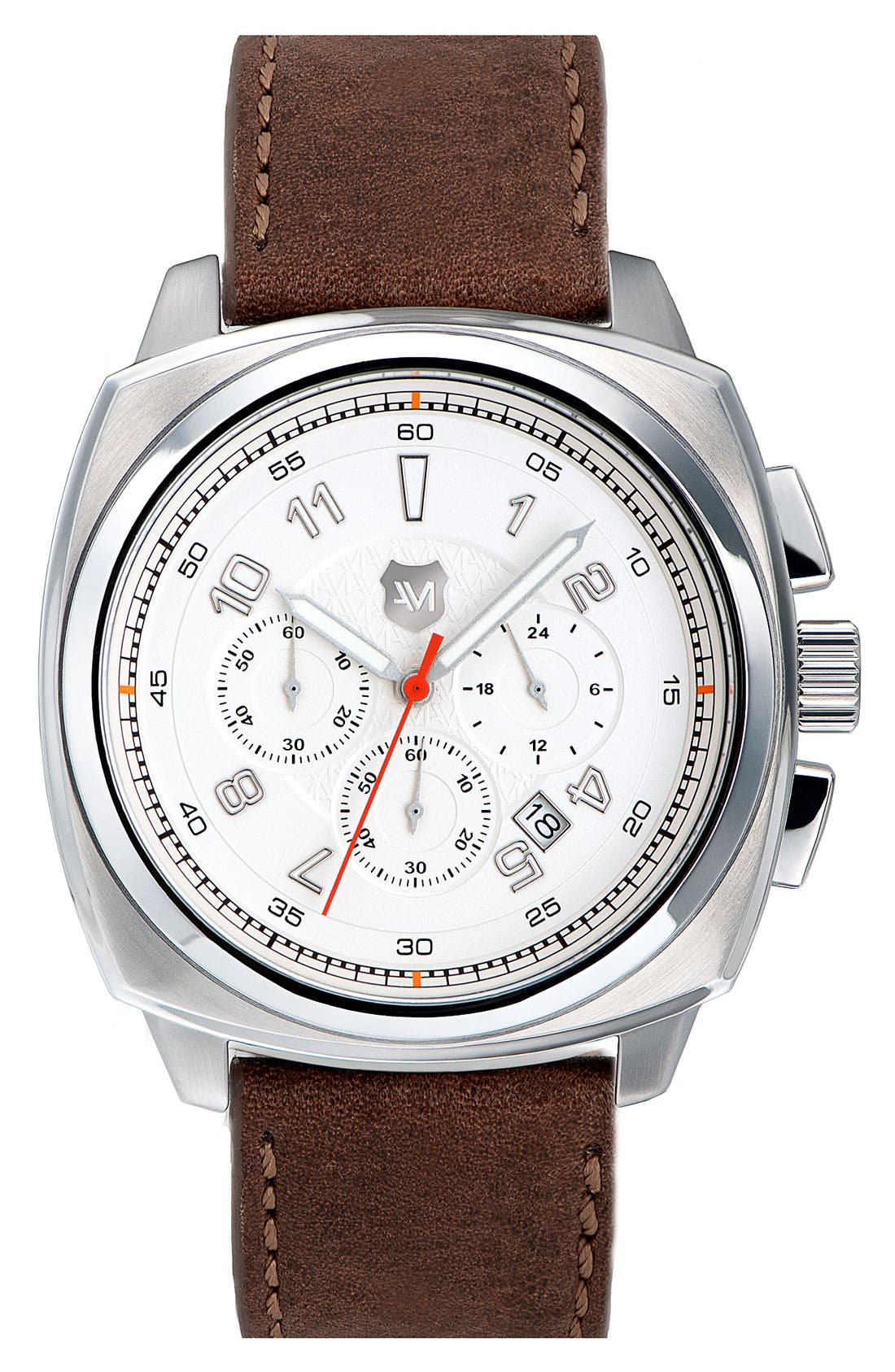 Alternate Image 1 Selected - Andrew Marc Watches 'Heritage Bomber' Leather Strap Watch