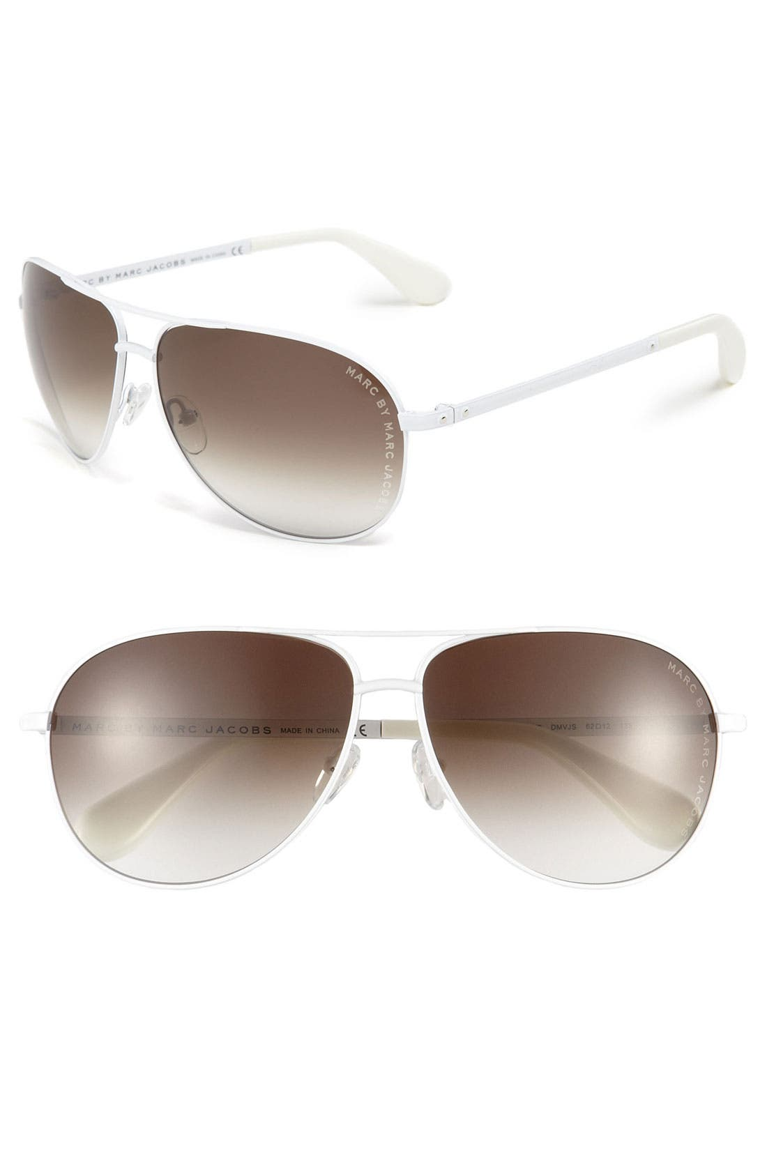 Main Image - MARC BY MARC JACOBS 62mm Metal Aviator Sunglasses