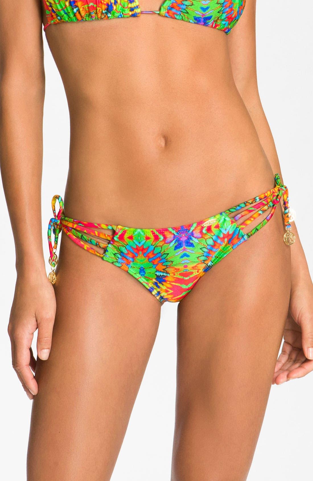 Main Image - Luli Fama 'Aguanile' Strappy Brazilian Bikini Bottoms