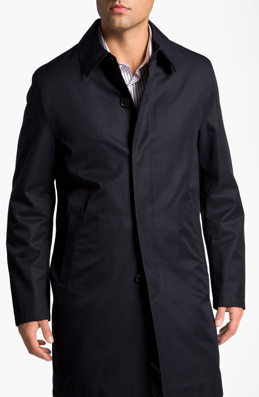 Main Image - Brooks Brothers Cotton Car Coat