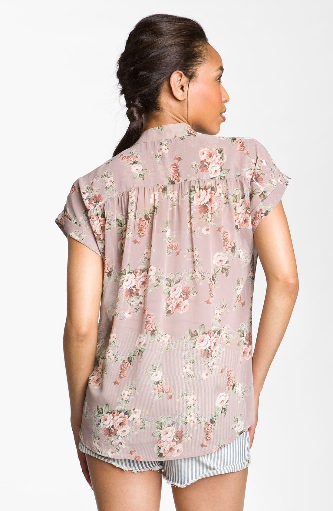 Alternate Image 2  - Bellatrix Sheer Print Shirt
