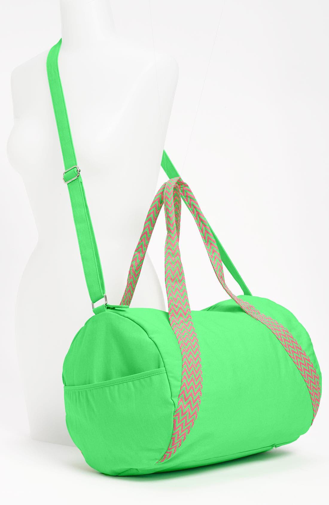 Alternate Image 4  - Lulu Neon Barrel Duffel Bag