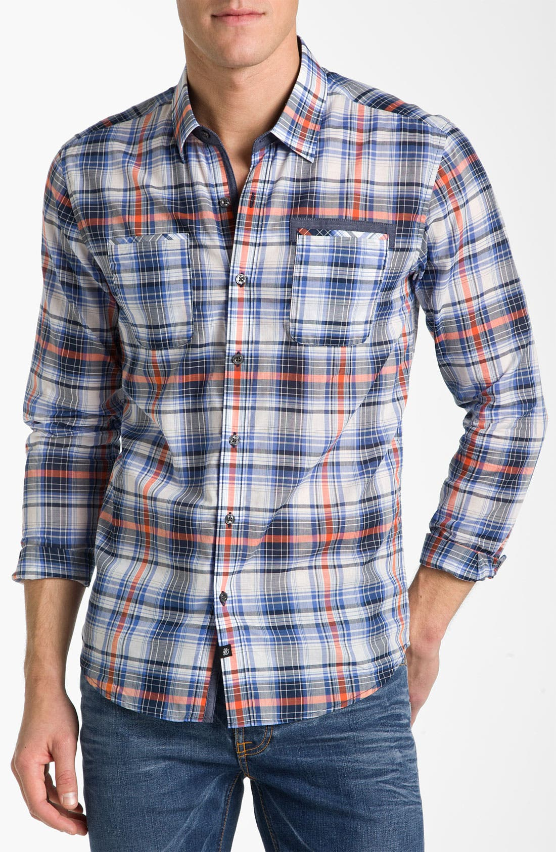 Main Image - 7 Diamonds 'In The Mood' Plaid Woven Shirt