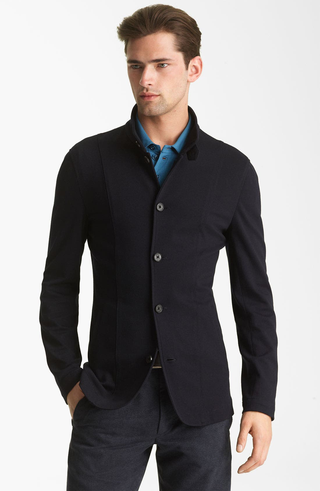 Alternate Image 1 Selected - Armani Collezioni Jersey Knit Jacket