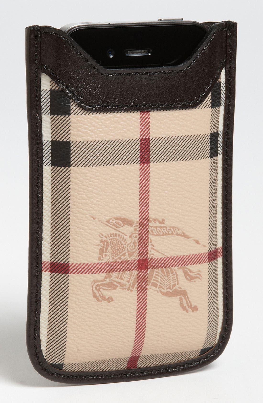 Alternate Image 1 Selected - Burberry 'Haymarket Check' iPhone Sleeve
