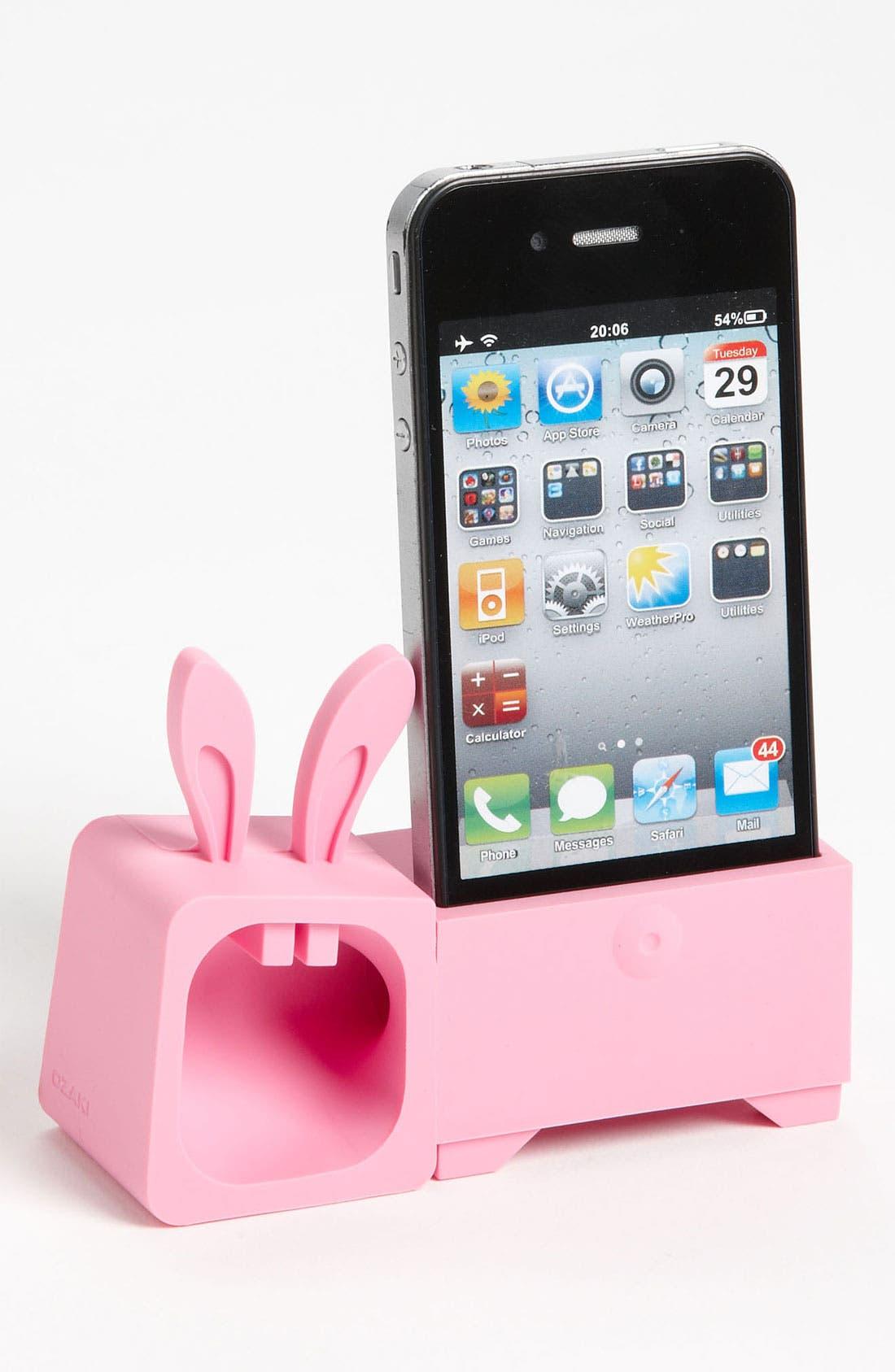 Alternate Image 1 Selected - Ozaki 'O! Music Zoo - Rabbit' iPhone 4 & 4S Stand & Amp
