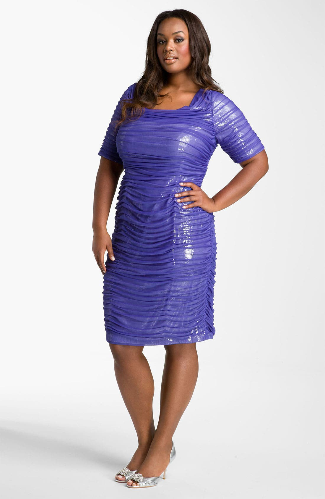 Alternate Image 1 Selected - Adrianna Papell Sequin Lined Sheath Dress (Plus)