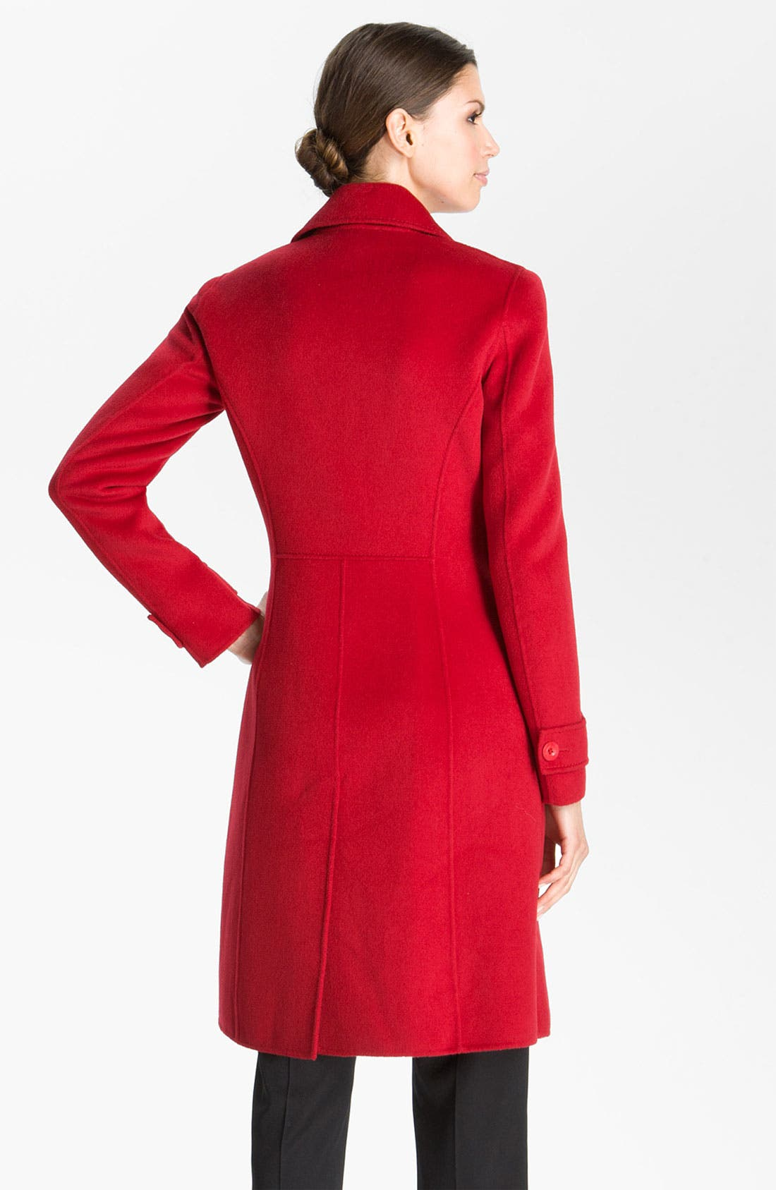 Alternate Image 4  - St. John Collection Angora Blend Coat