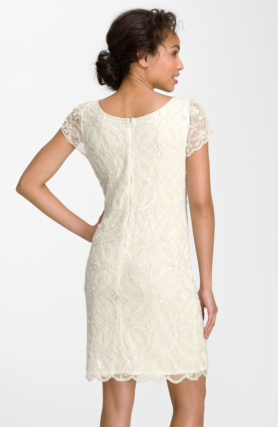 Alternate Image 2  - Pisarro Nights Embellished Scallop Hem Sheath Dress