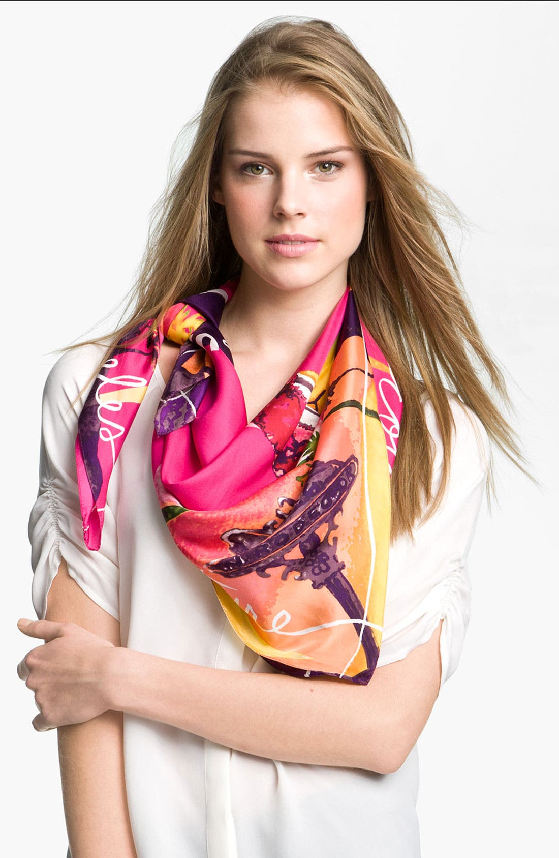 Alternate Image 1 Selected - Juicy Couture 'LA' Silk Square Scarf