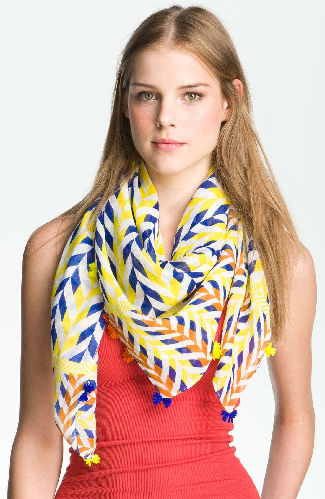 Alternate Image 1 Selected - Collection XIIX 'Brazilian Geo' Square Scarf