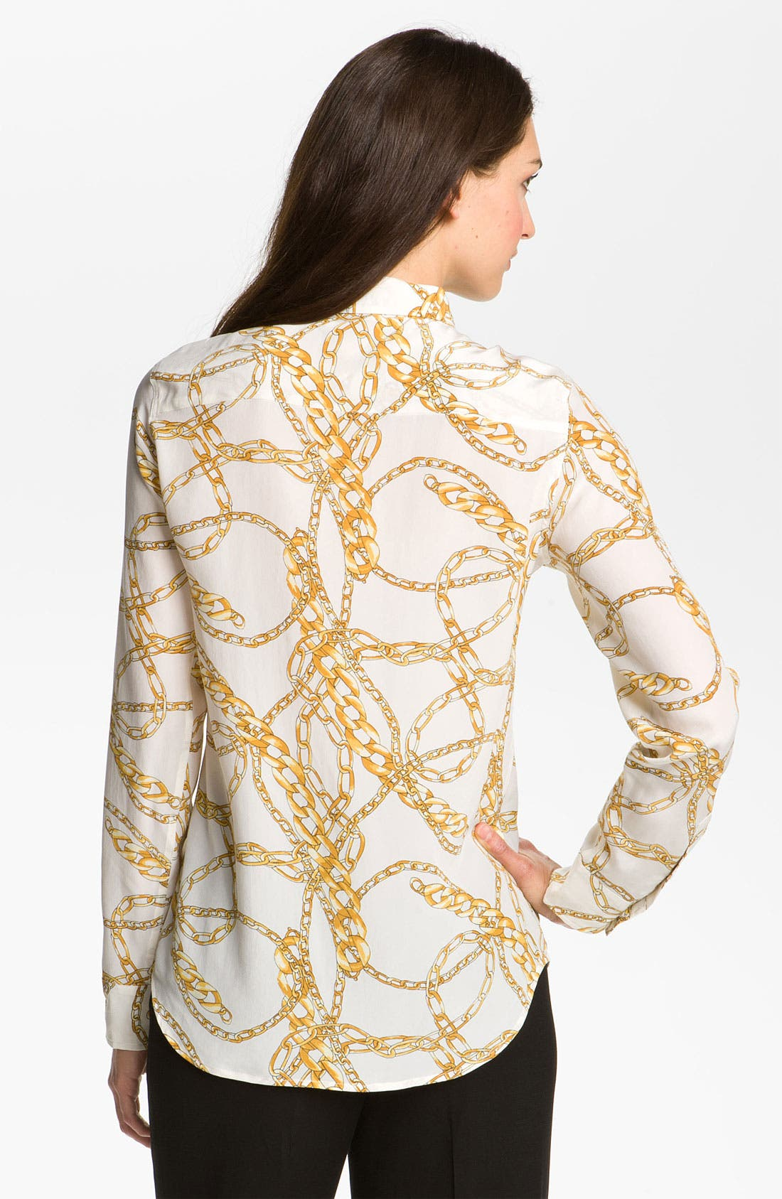 Alternate Image 2  - Equipment 'Brett' Scarf Print Silk Blouse