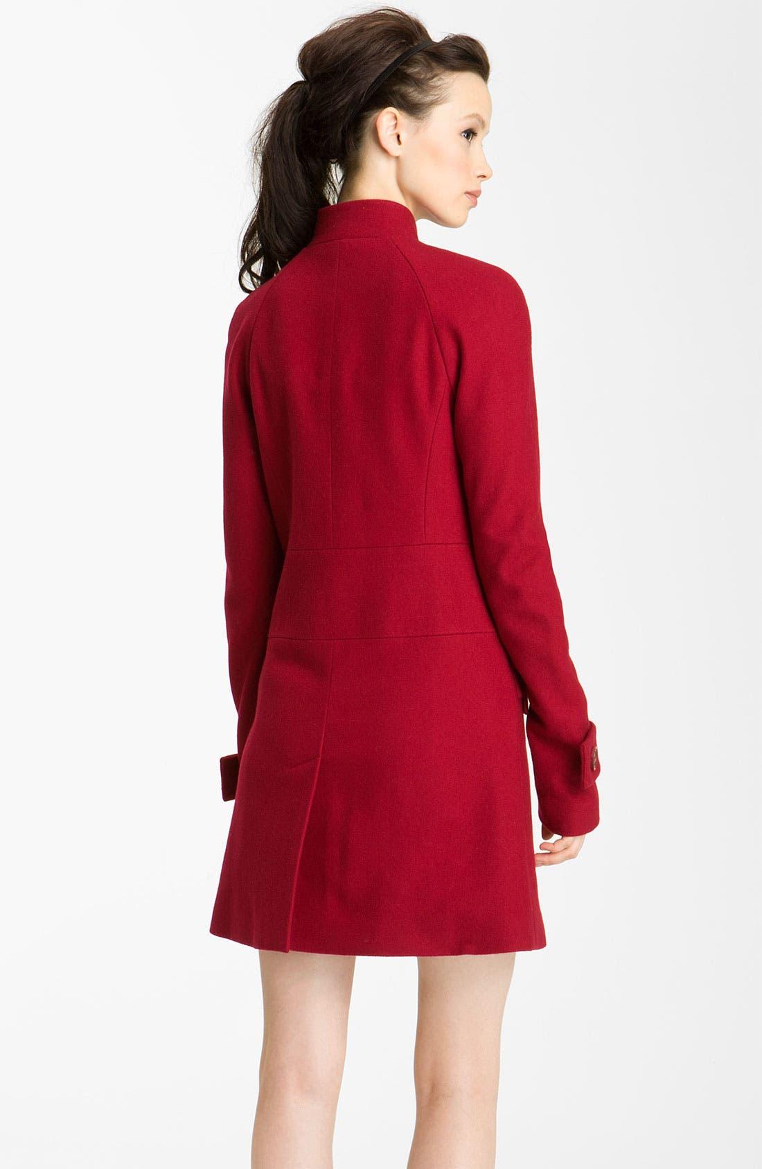 Alternate Image 2  - Rachel Zoe Double Breasted Raglan Coat