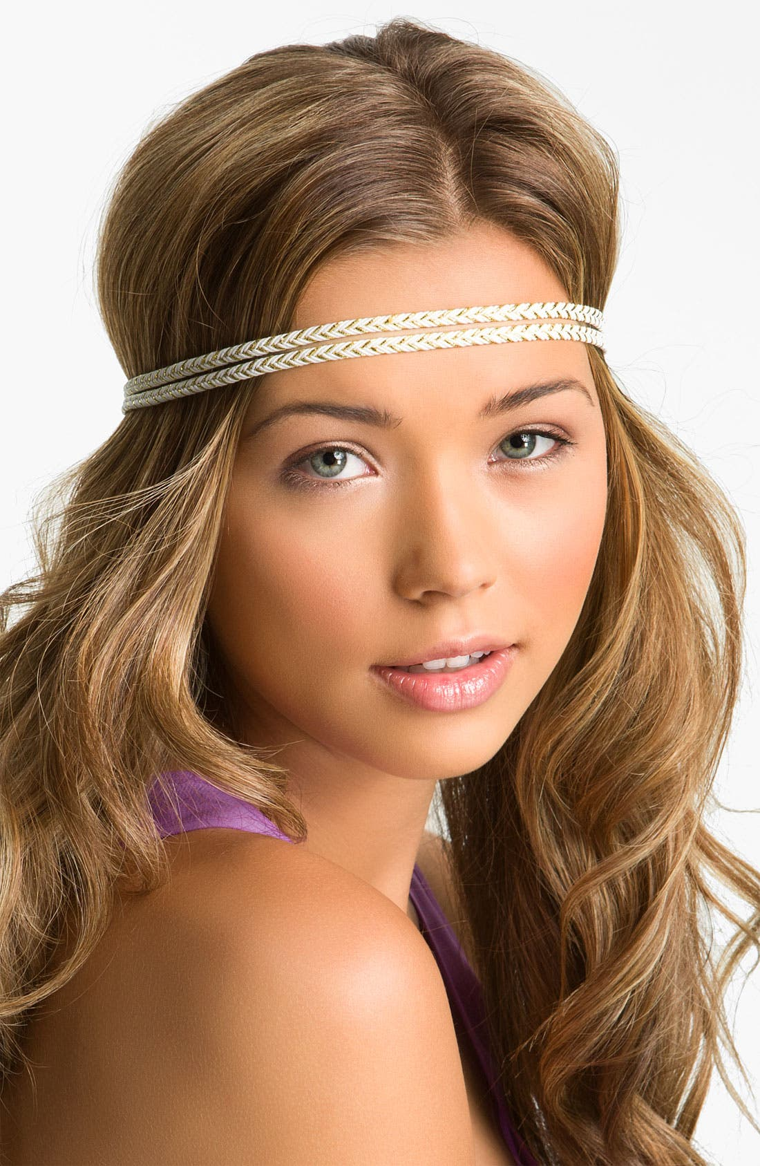 Main Image - Cachet Creations Metallic Braid Headband