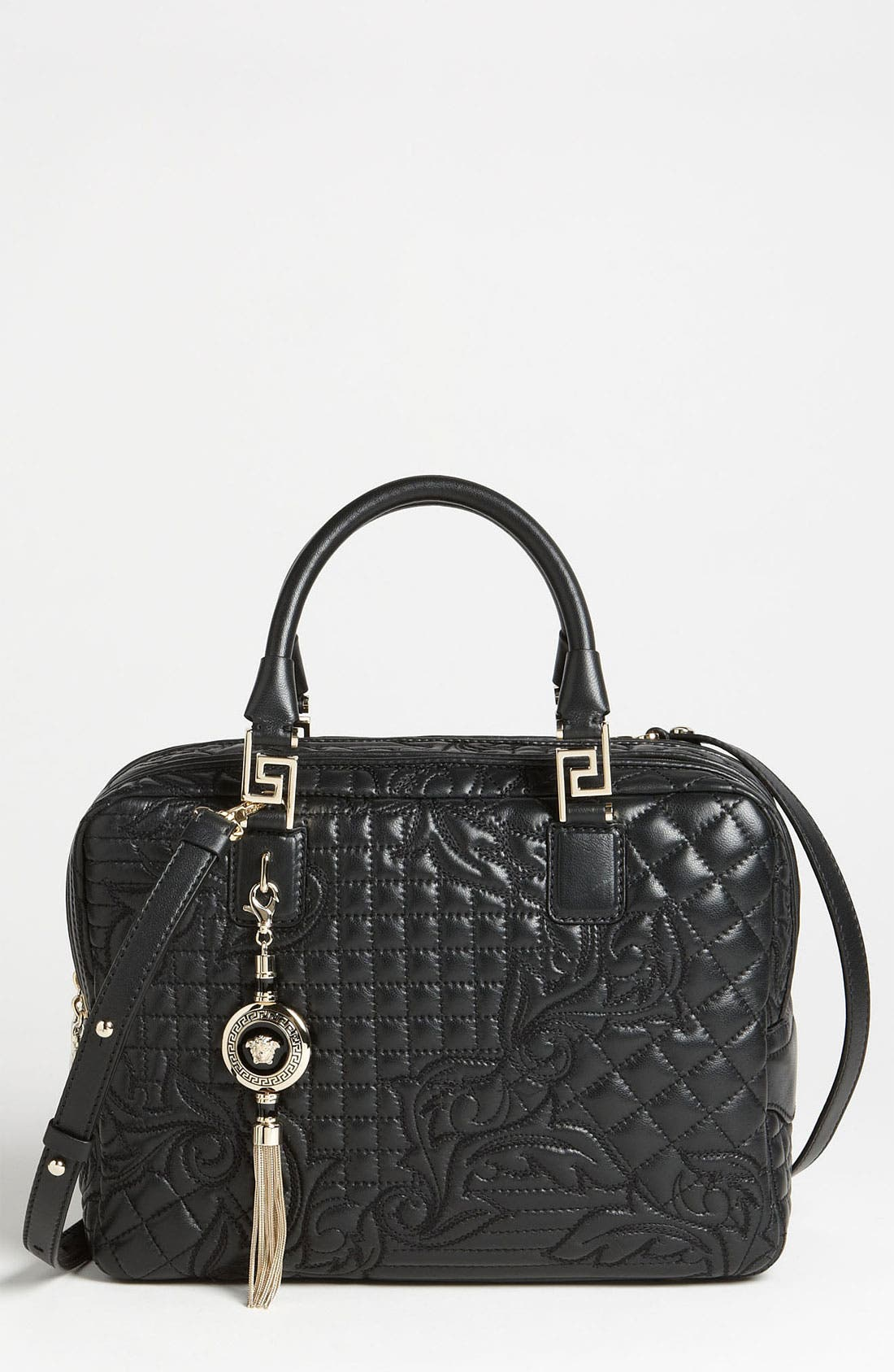 Main Image - Versace 'Linea' Leather Satchel