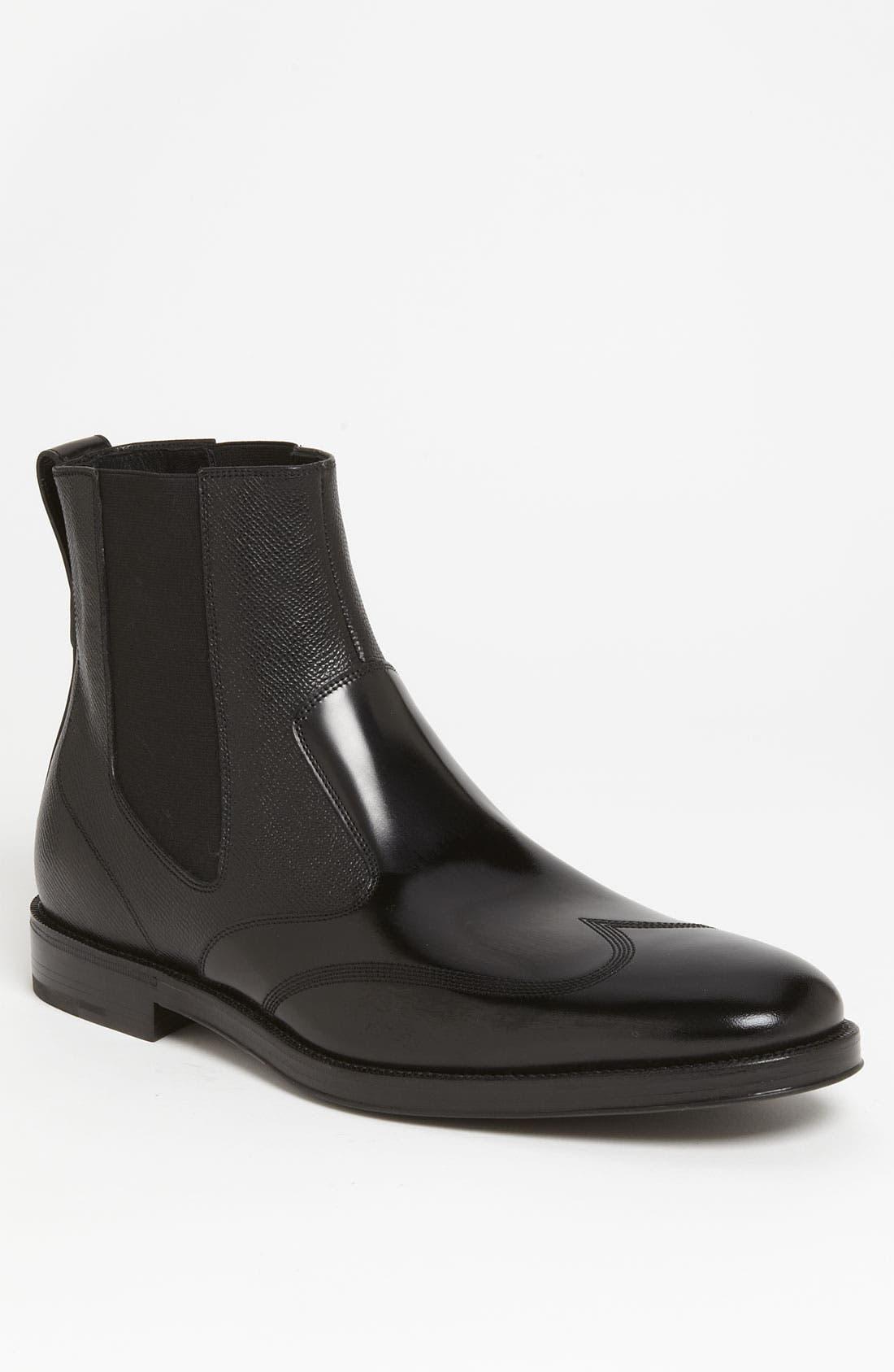 Main Image - Salvatore Ferragamo 'Aritz' Wingtip Chelsea Boot
