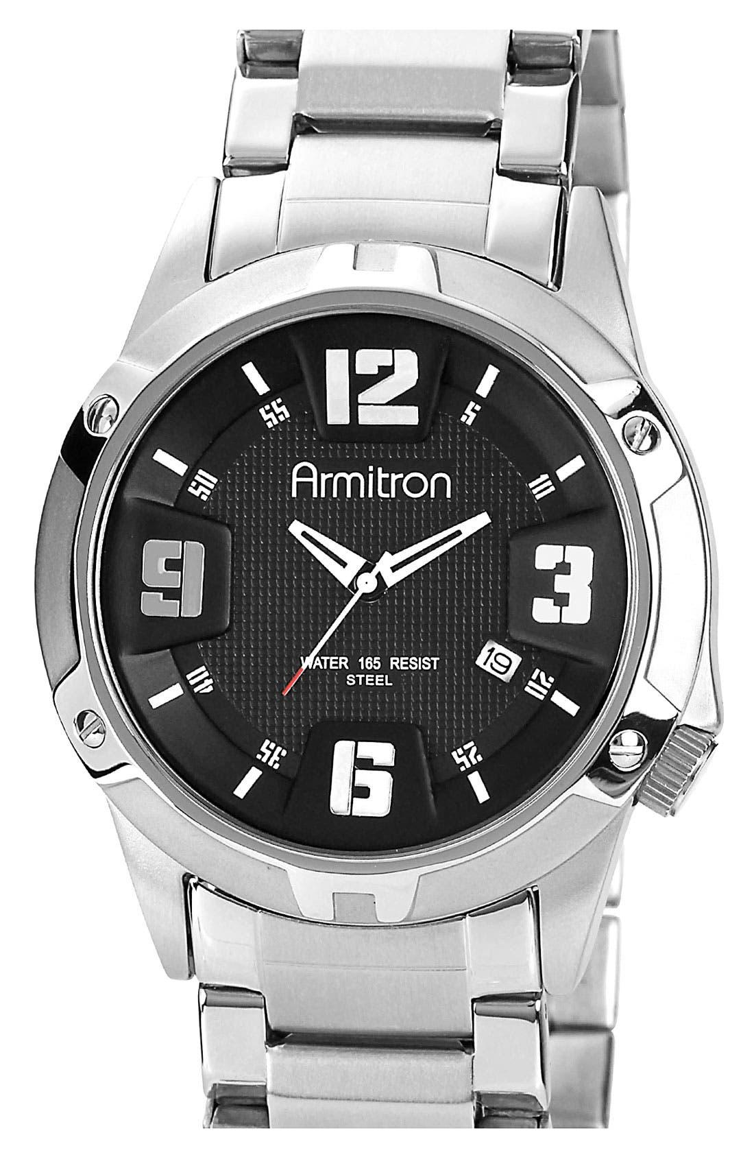 Alternate Image 1 Selected - Armitron Round Bracelet Watch, 42mm