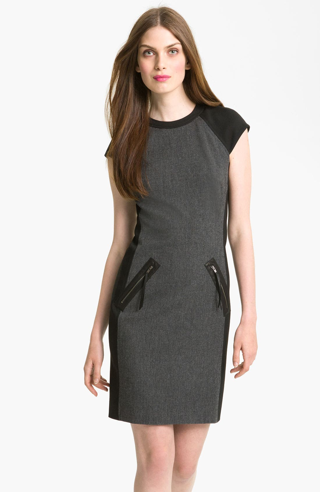 Alternate Image 1 Selected - Rebecca Taylor Colorblock Dress