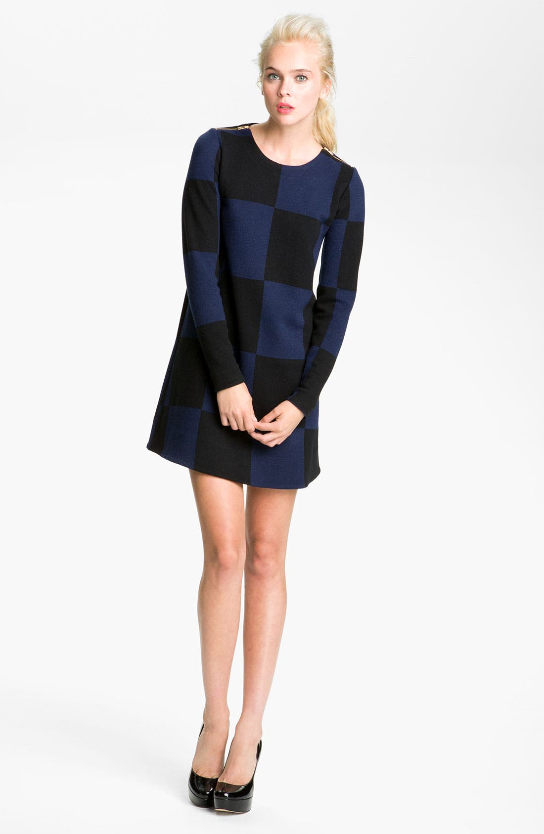Main Image - MARC BY MARC JACOBS Checkered Jacquard Mini Dress
