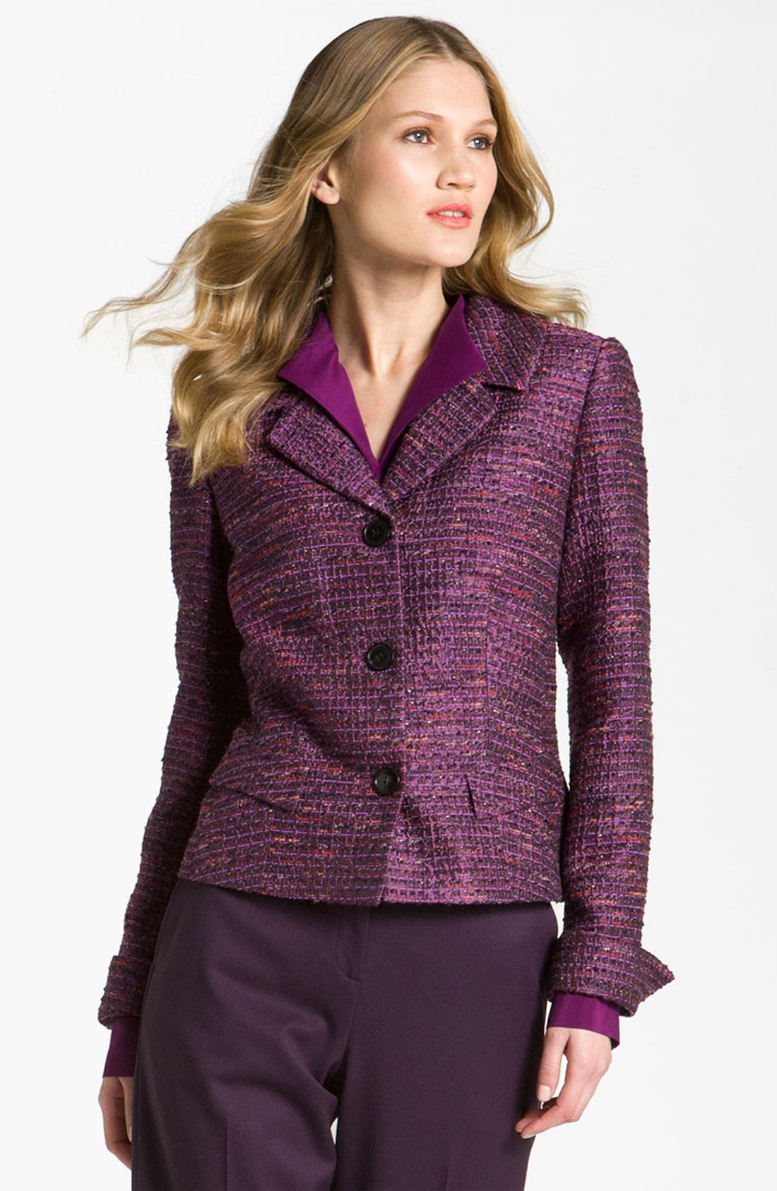Alternate Image 1 Selected - Lafayette 148 New York 'Melodic' Tweed Jacket