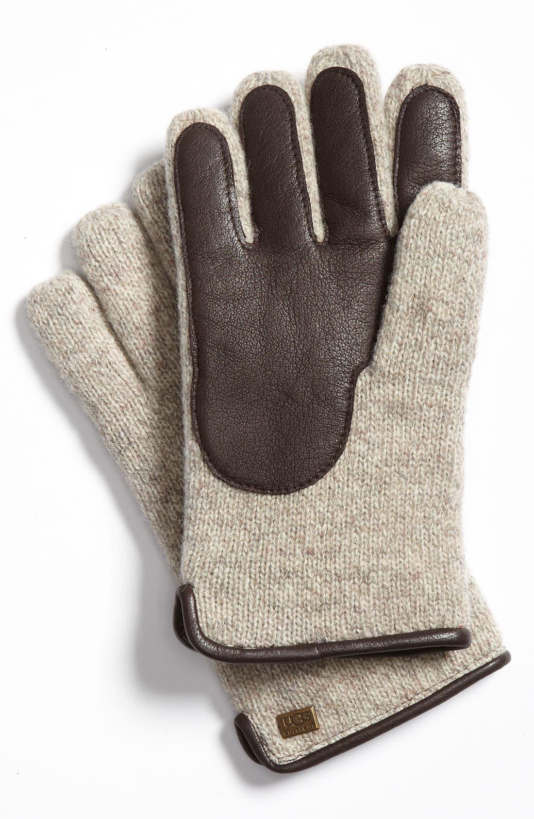 Alternate Image 2  - UGG® Australia Lambswool Knit Gloves