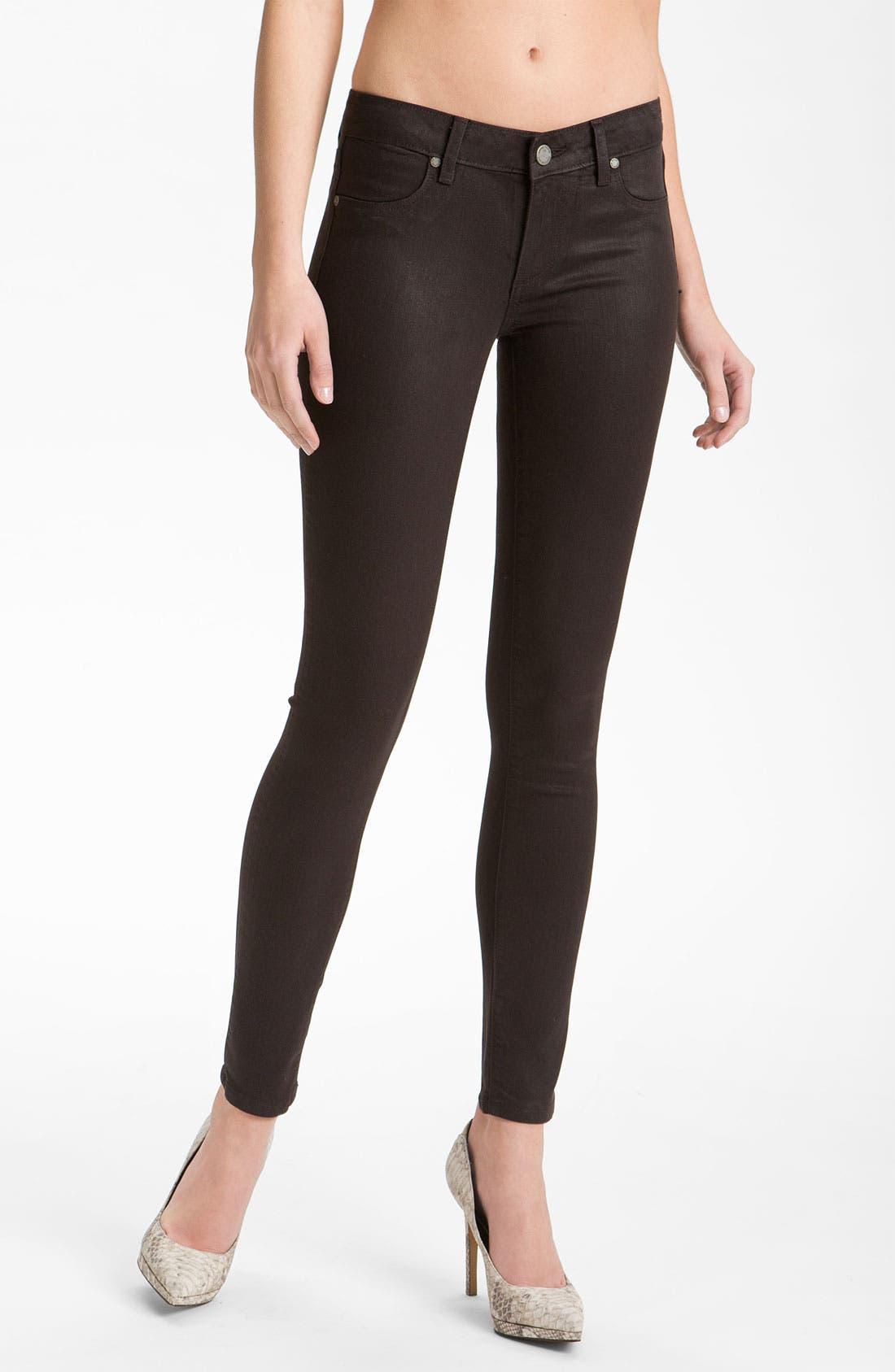 Alternate Image 1 Selected - Paige Denim 'Verdugo' Coated Skinny Jeans (Java)