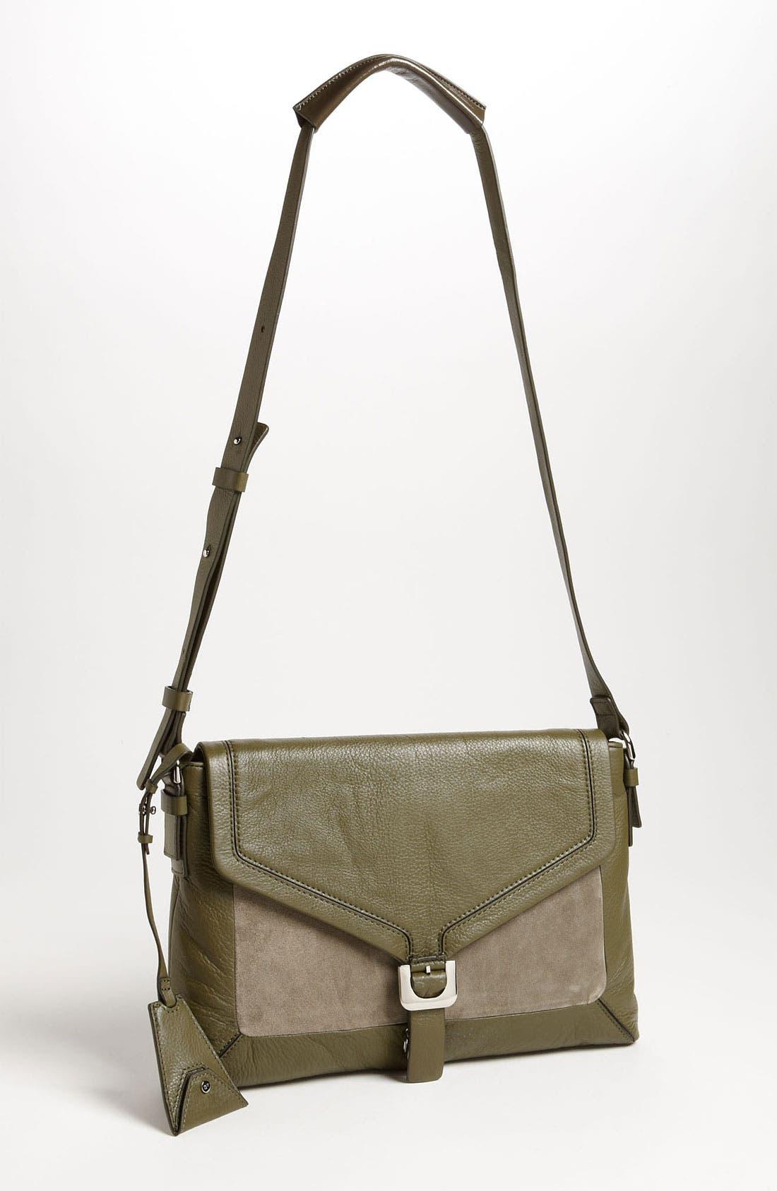 Alternate Image 1 Selected - Diane von Furstenberg 'Drew - Connect' Leather Shoulder Bag
