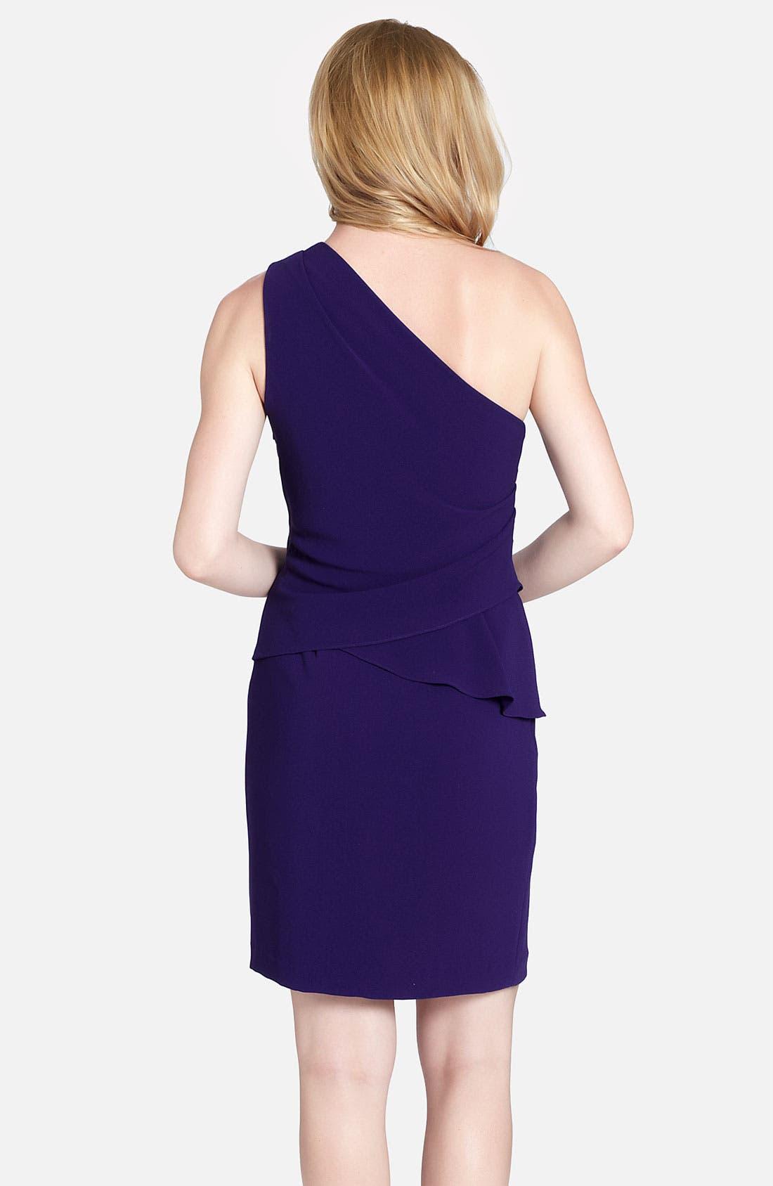 Alternate Image 2  - Cynthia Steffe 'Brielle' One Shoulder Side Peplum Dress