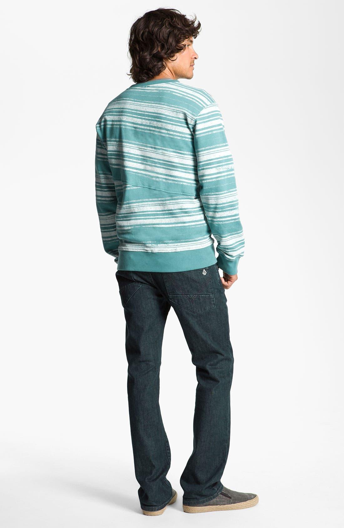 Alternate Image 6  - Volcom 'Nova' Slim Straight Leg Jeans (Los Tintos) (Online Only)